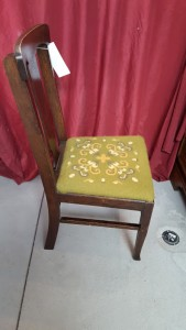 wood sewing chair